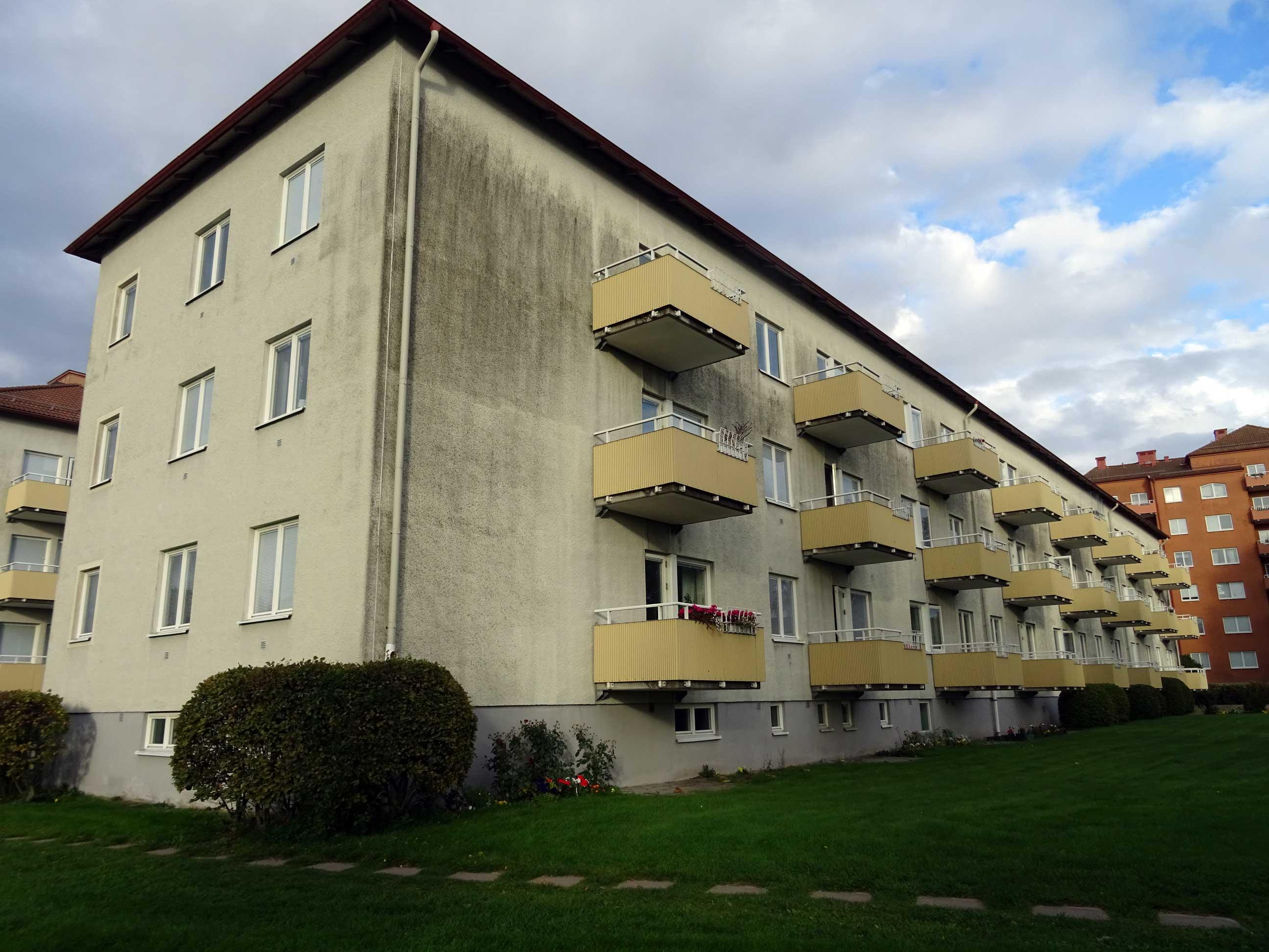 Putsad fasad