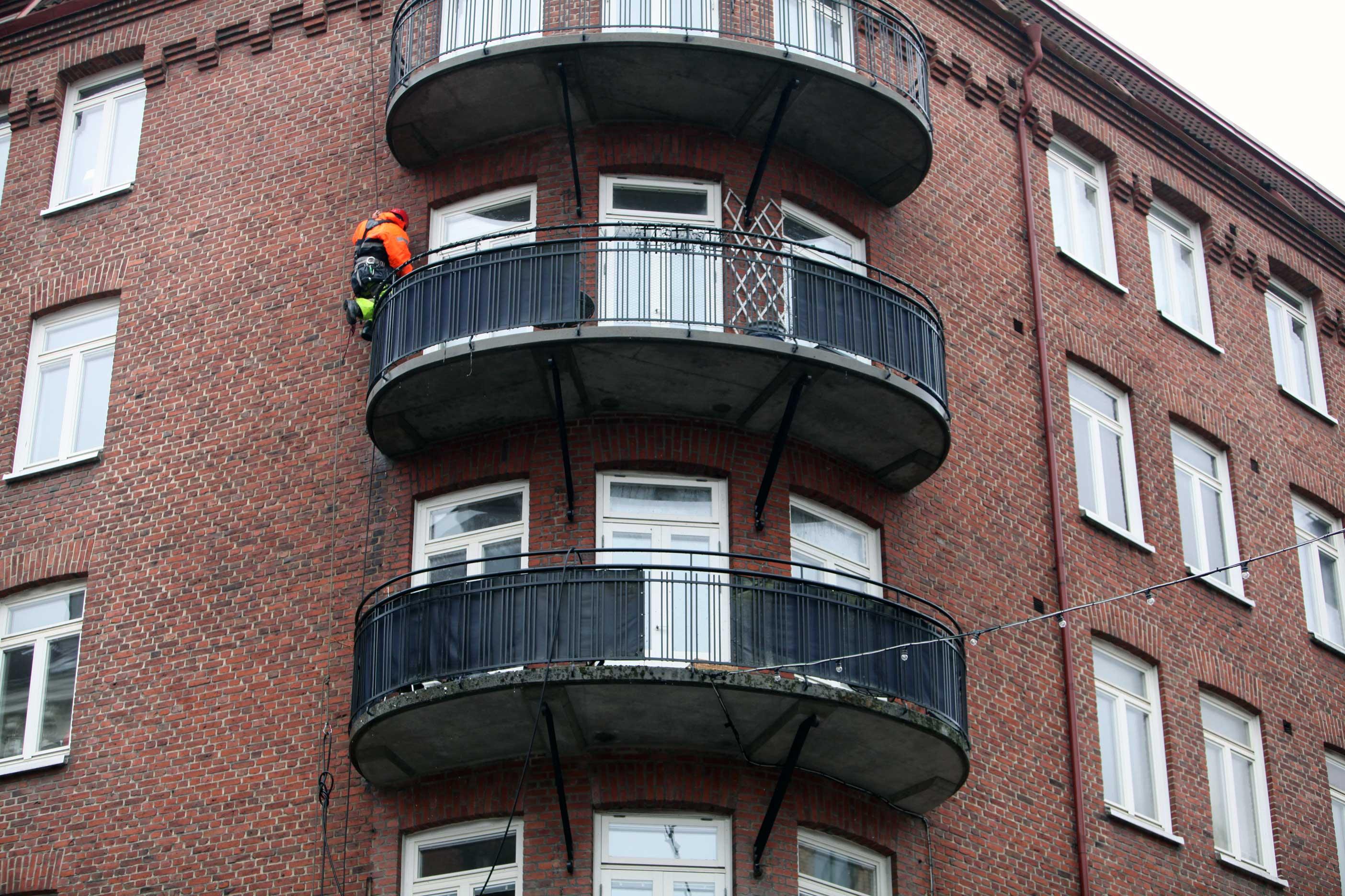 Tvätta rent balkonger